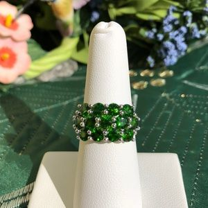 Russian Diopside Cluster Ring. -  NWOT